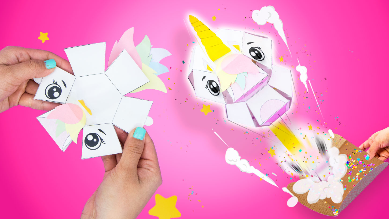 tarjeta unicornio explosiva