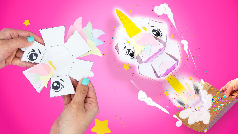 Haz una tarjeta de unicornio explosiva ~ Craftingeek