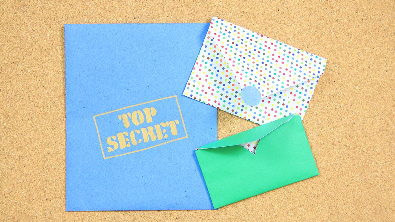 3 sobres de papel faciles