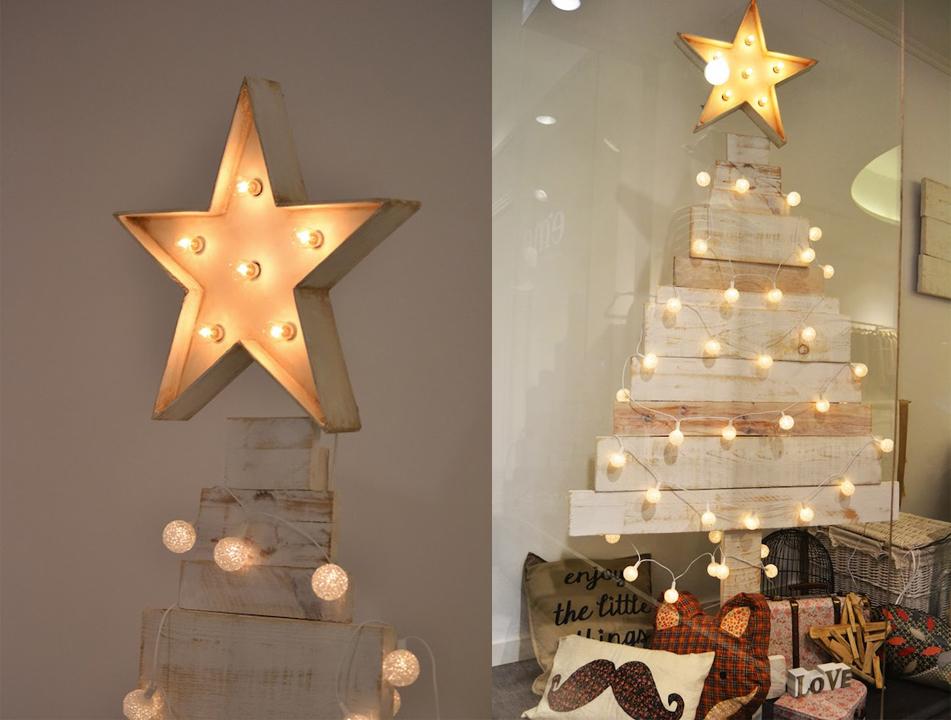 12 ideas que puedes hacer con luces de navidad craftingeek - Luces arbol de navidad ...