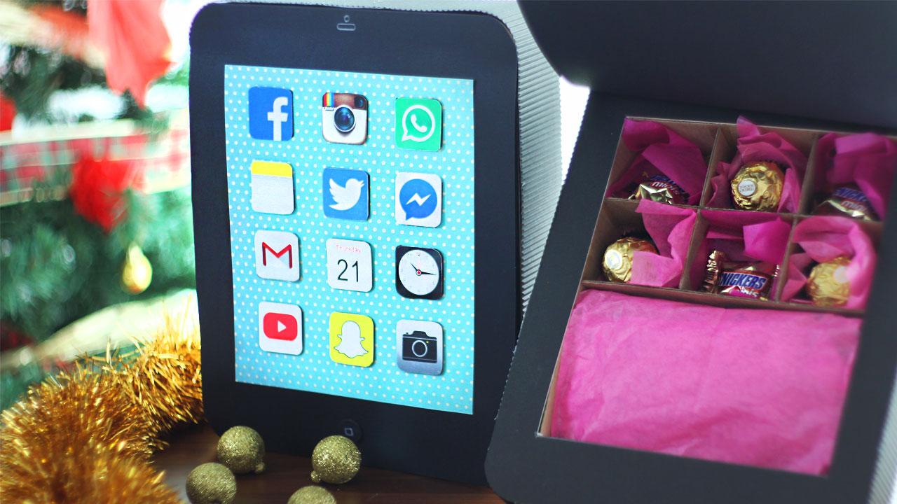 caja personalizada en forma de celular