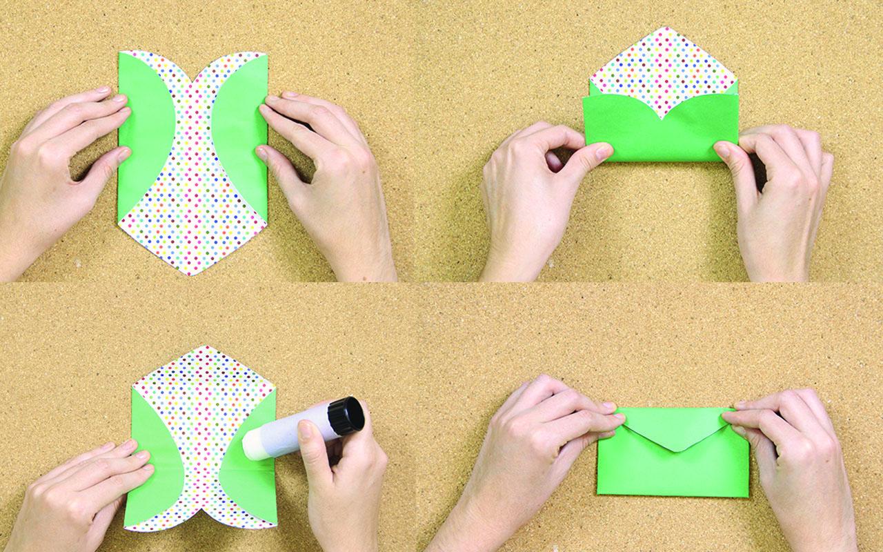 como hacer un sobre con un corazon