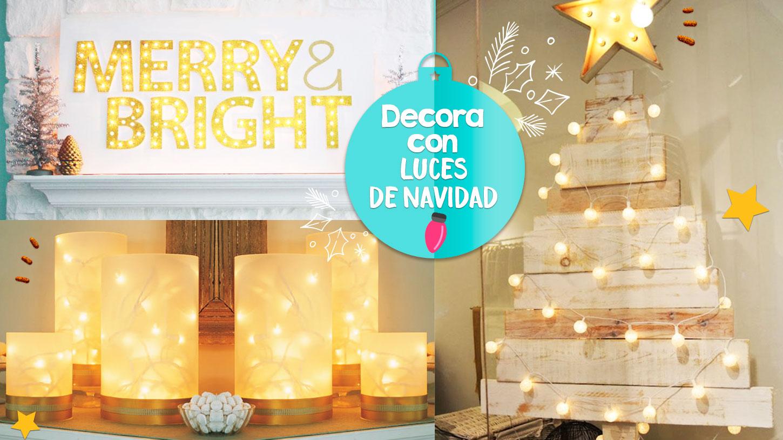 12 ideas que puedes hacer con luces de navidad craftingeek - Luces para navidad ...