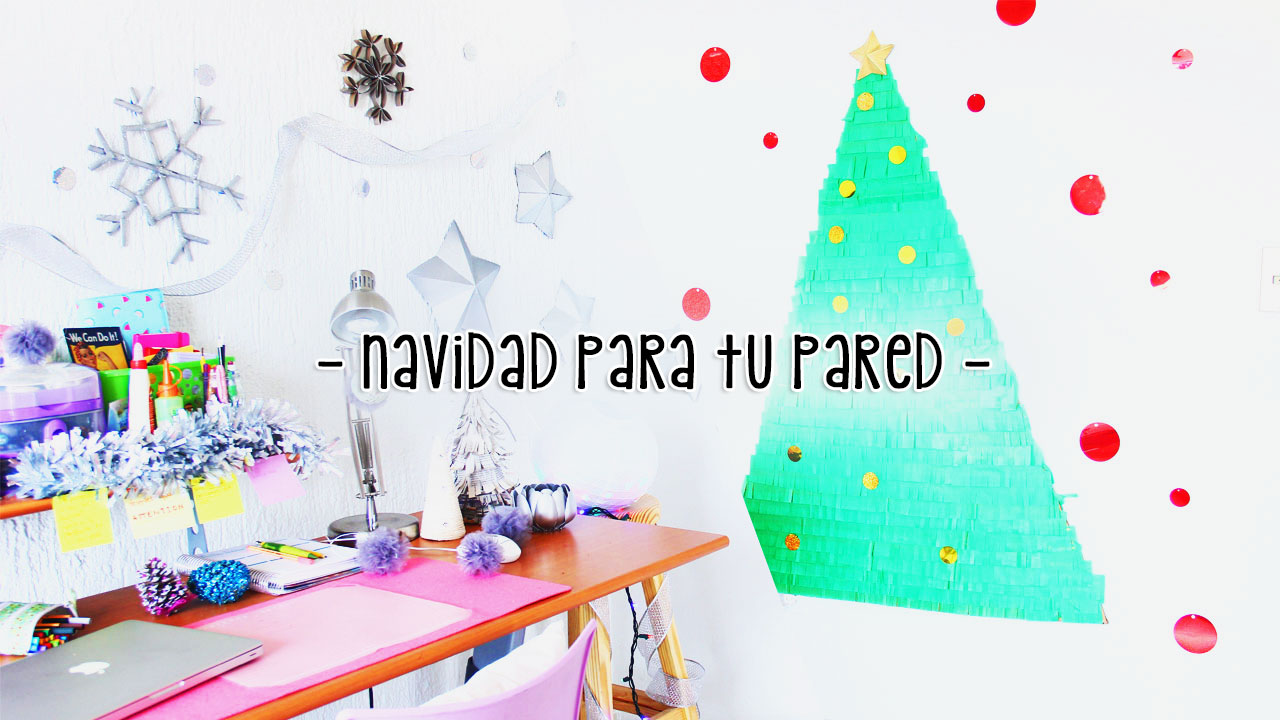 Decoraciones navide as f ciles y lindas para tu pared - Decoraciones navidenas faciles ...