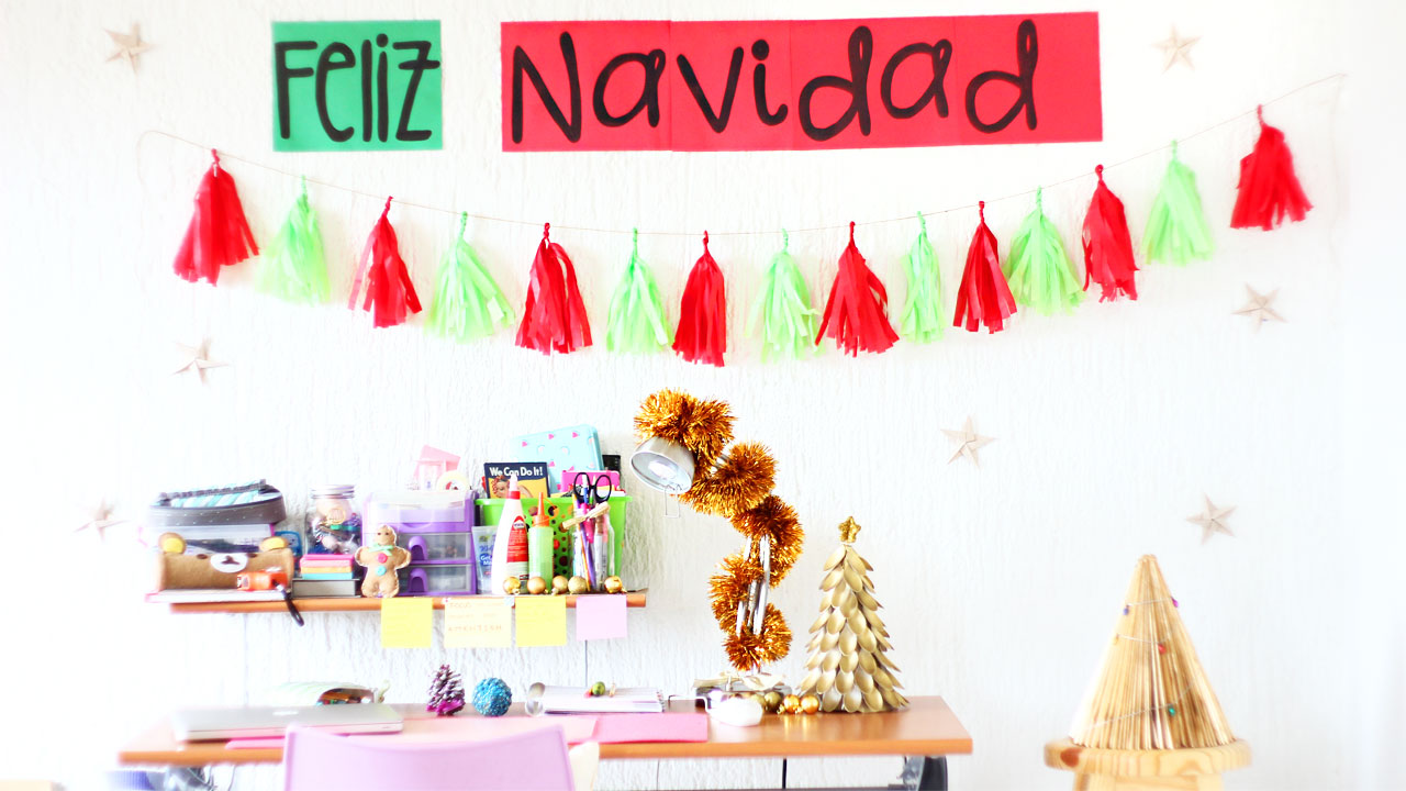 Decoraciones navide as f ciles y lindas para tu pared for Decoraciones navidenas faciles de hacer