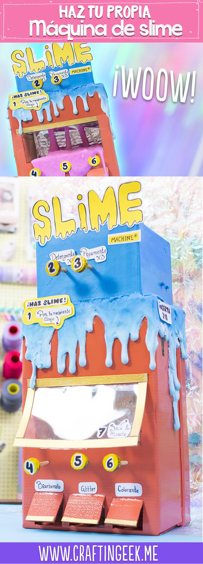 Haz una maquina para hacer slime