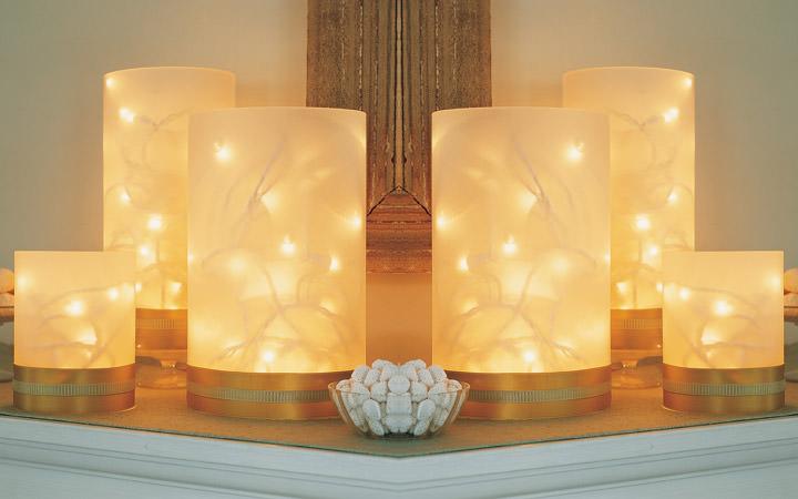 lamparas centro de mesa luces navidad