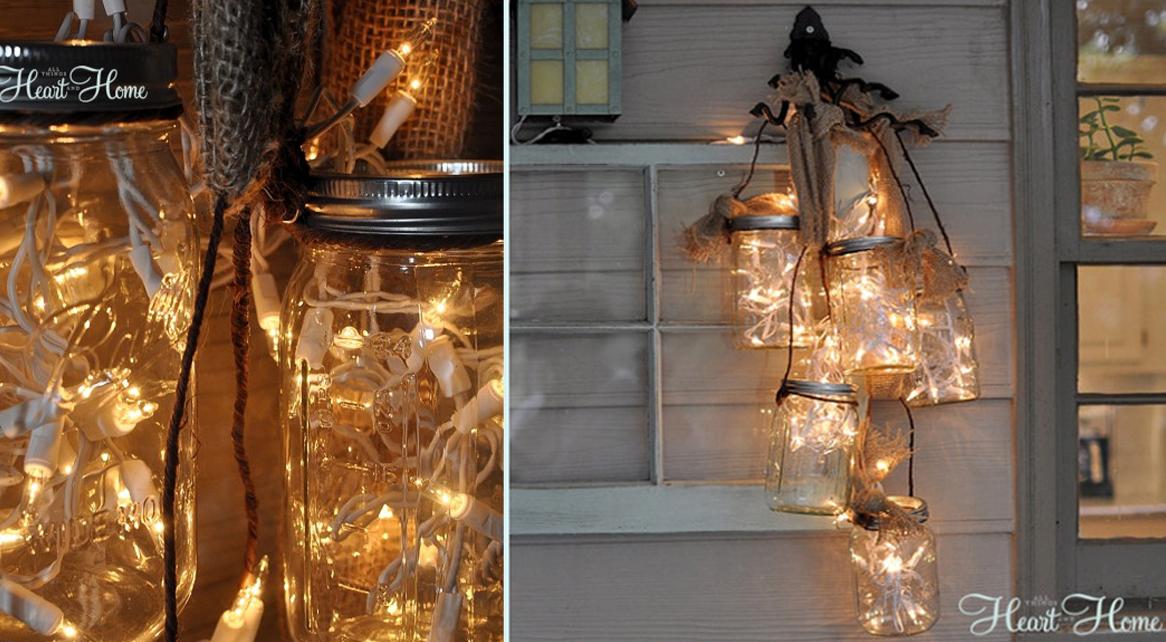 mason jar luces de navidad