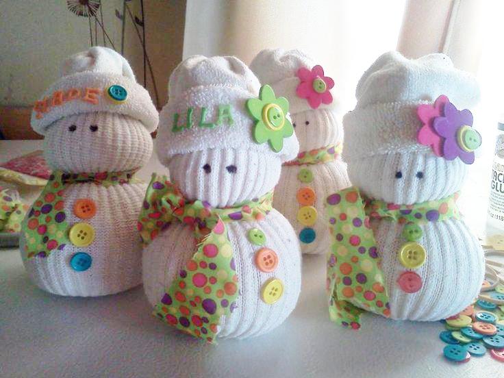 monos de nieves calcetin