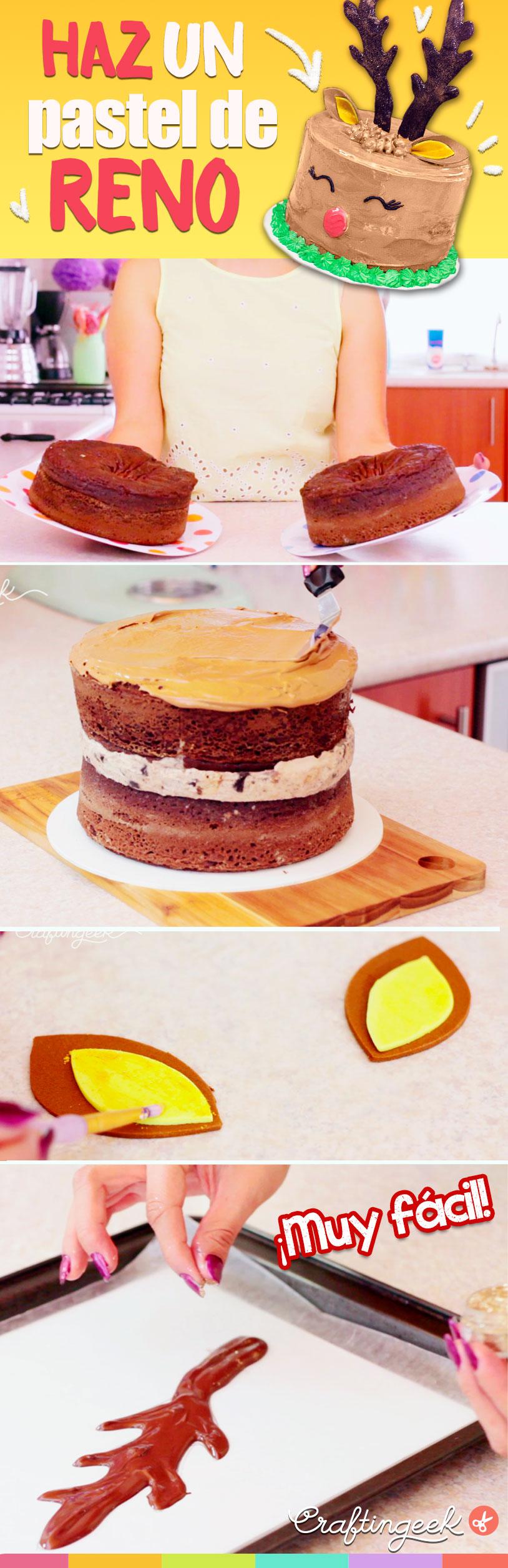 Receta facil pastel de reno para navidad