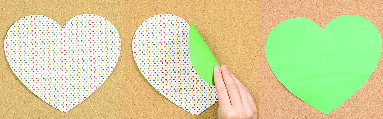 sobre de papel forma corazon