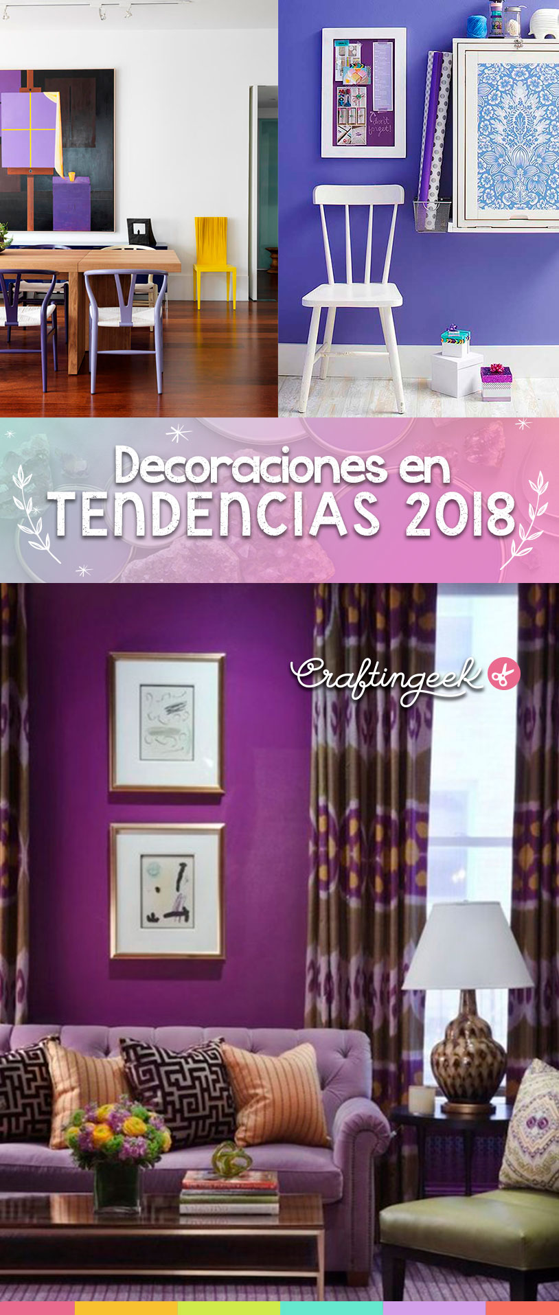 ideas decoracion 2018 ultravioleta