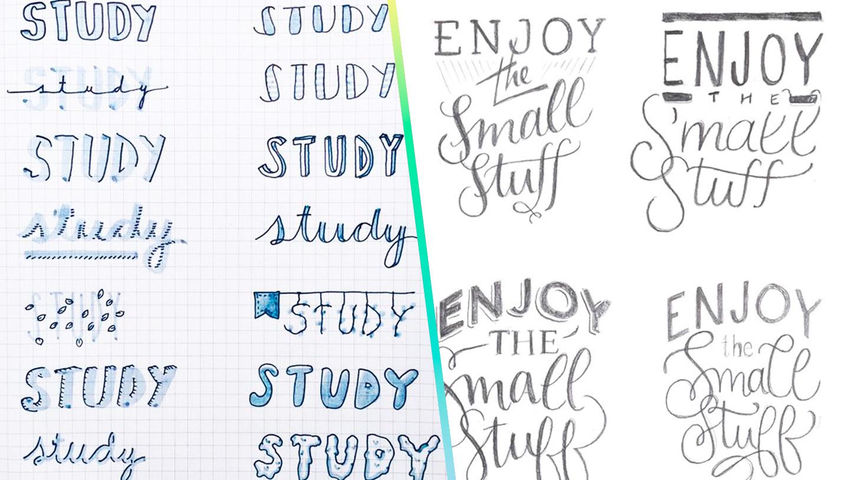 Lettering para tus apuntes: ideas