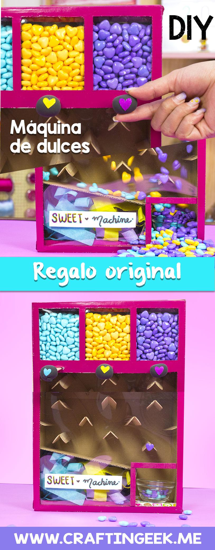 maquina de dulces diferentes colores
