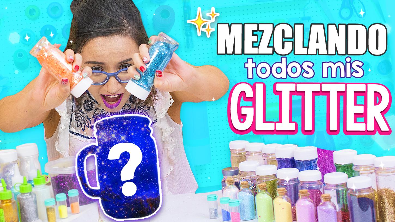 mezclando todos los glitter