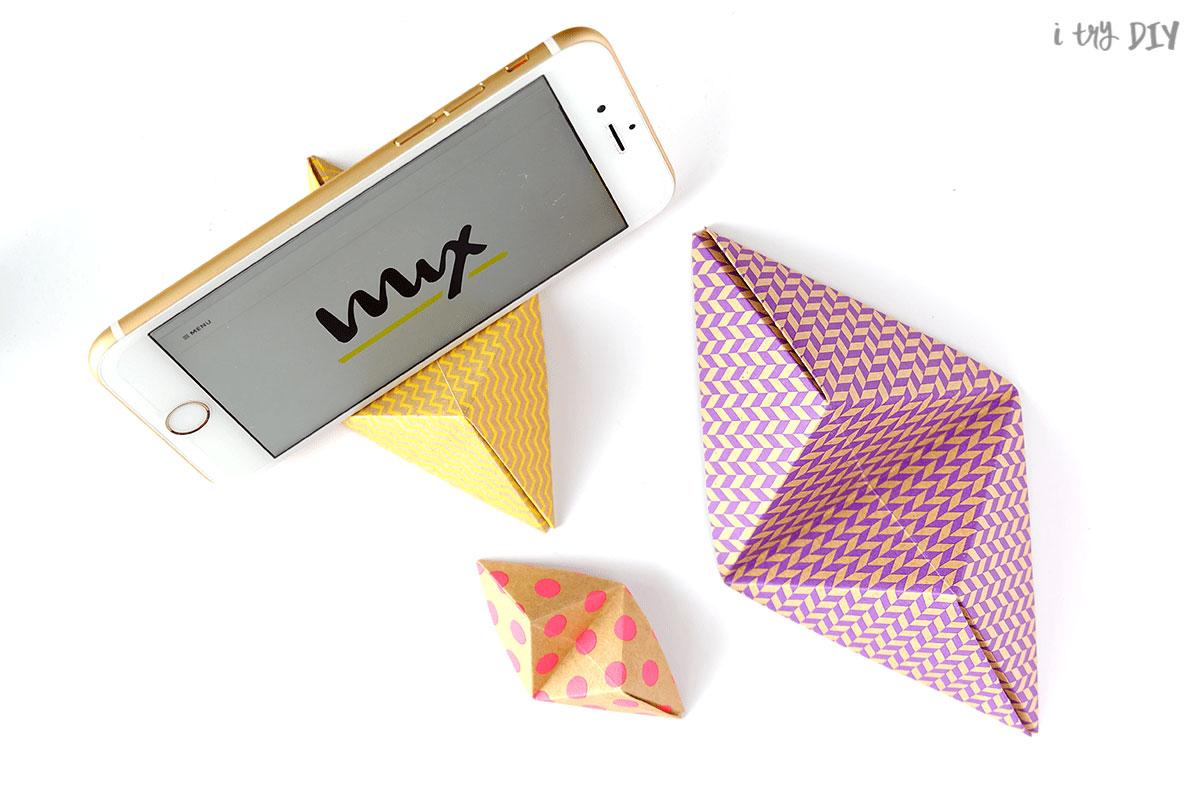 porta-celular-de-origami