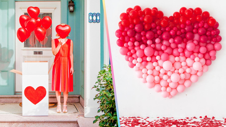 Ideas para decorar con globos en san valent n craftingeek for Decoracion para pared san valentin