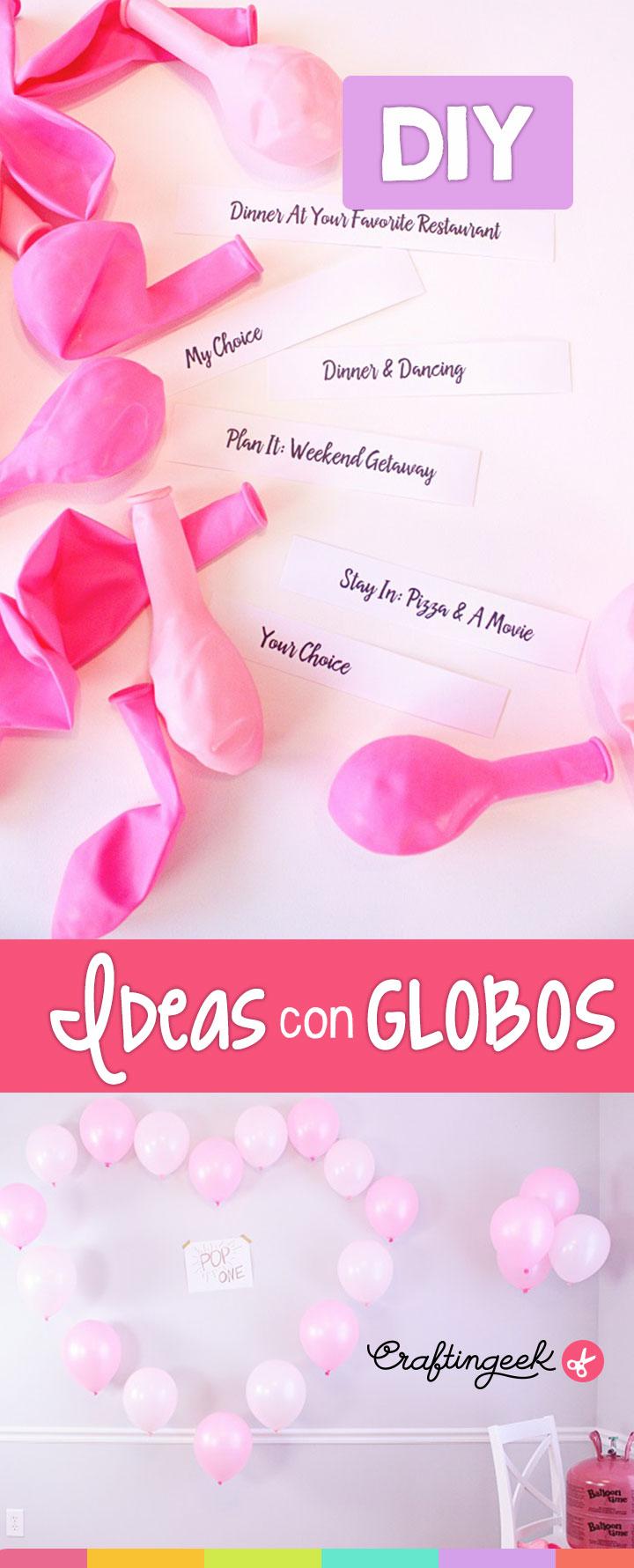 ideas para decorar con globos para san valentin