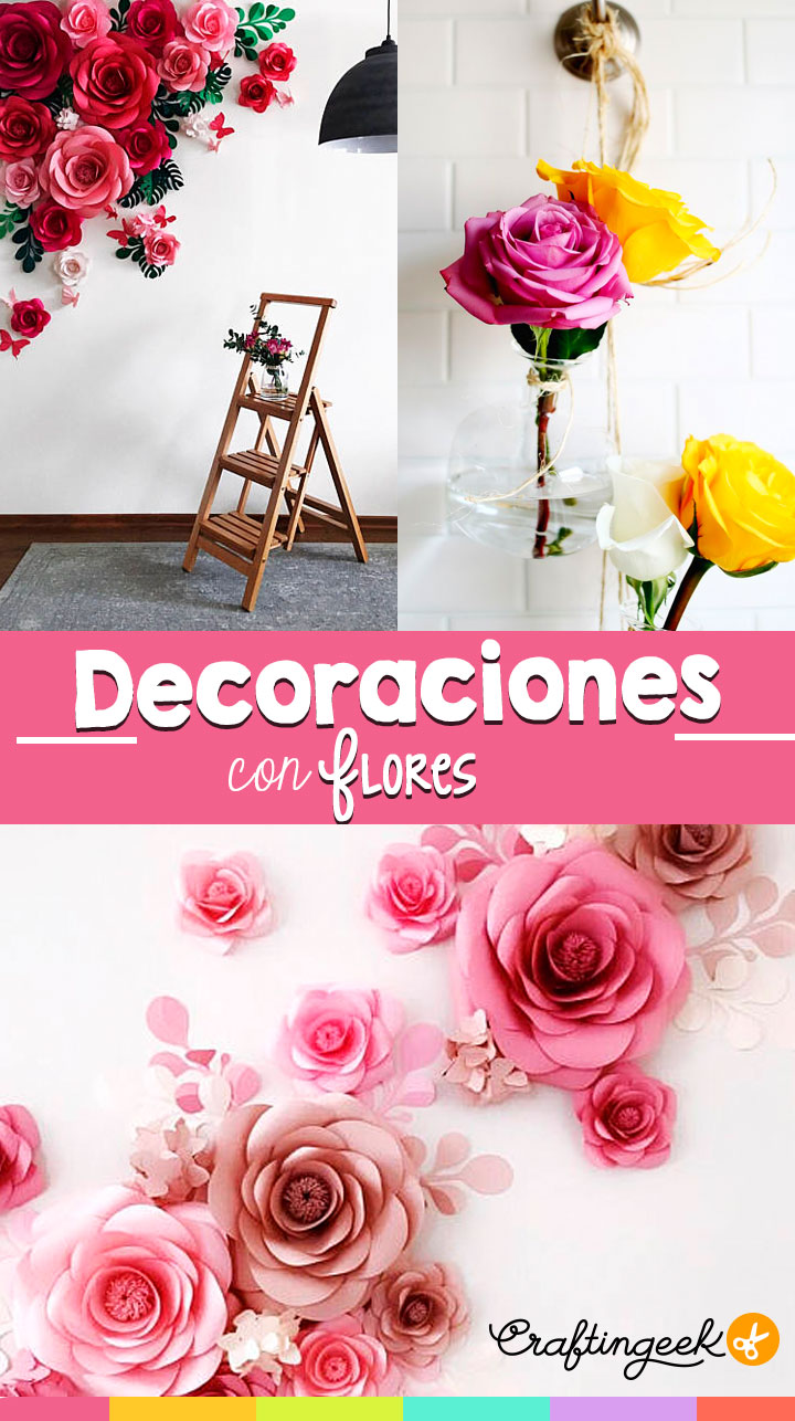 Decora tu pared con flores | Decorate your wall with flowers