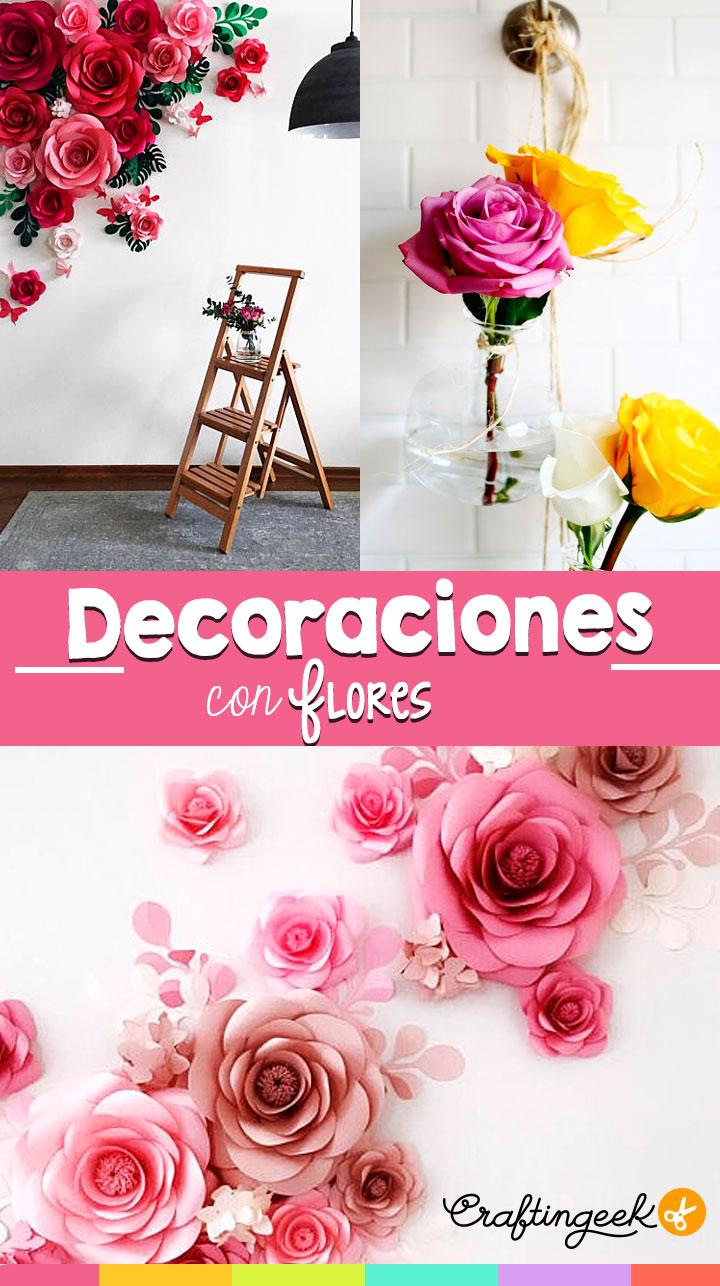 Ideas Para Decorar Tu Pared Con Flores Craftingeek