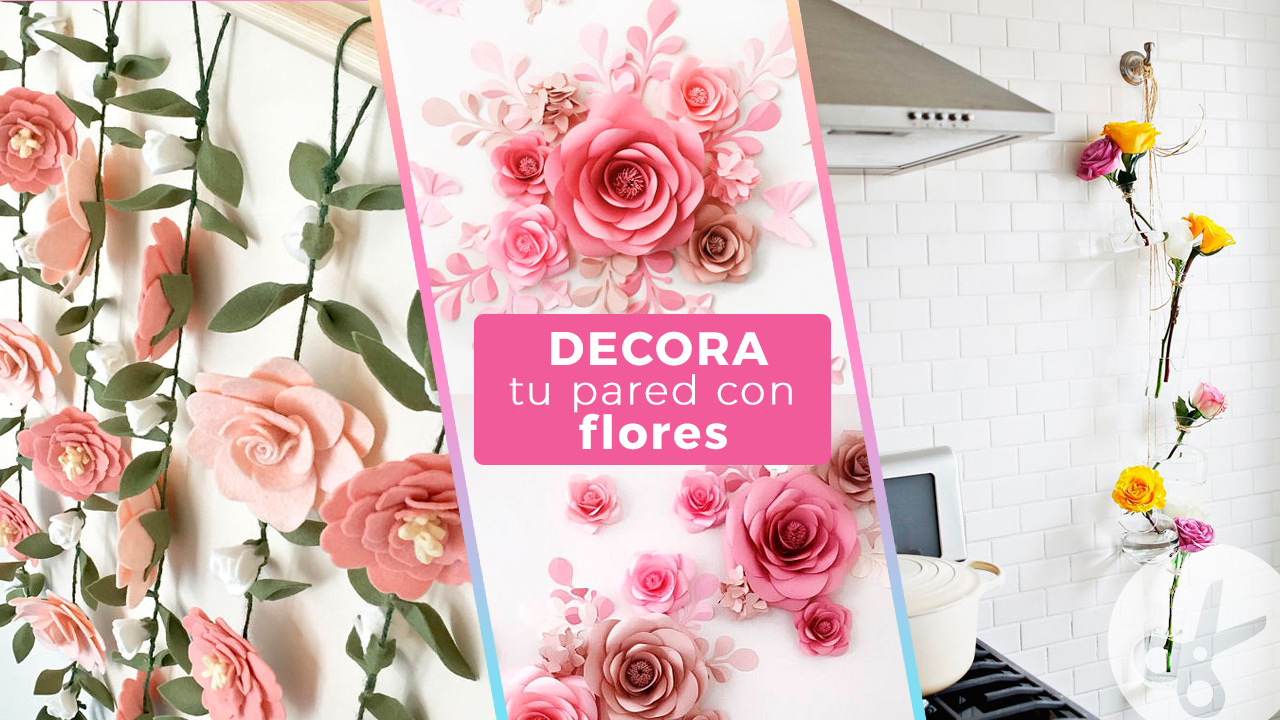 Ideas para decorar tu pared con flores craftingeek - Ideas para decorar una pared ...