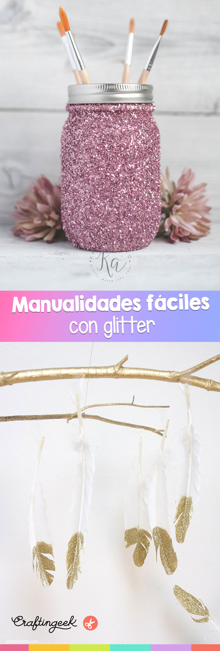 Manualidades Faciles Que Puedes Decorar Con Glitter Craftingeek - Decoracin-manualidades