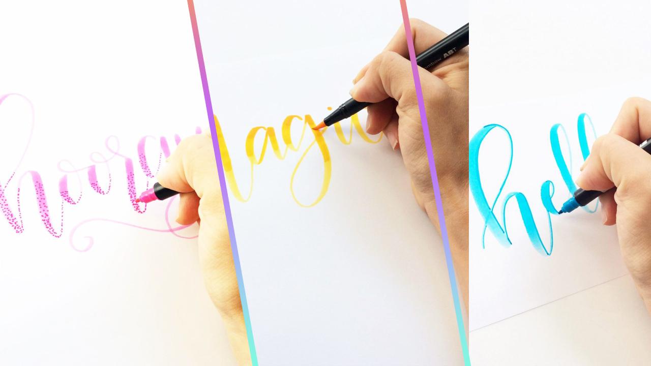 tecnicas-con-marcadores-para-caligrafia