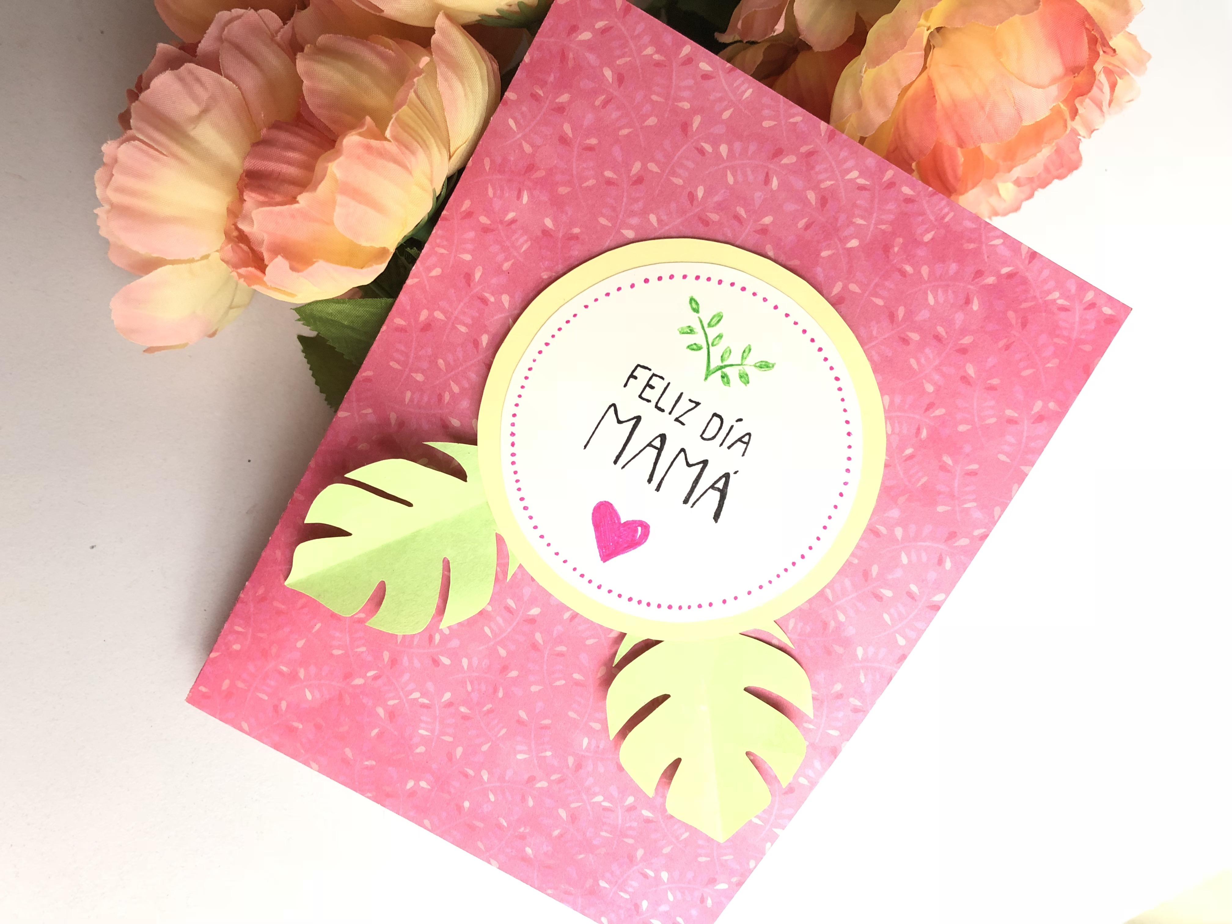 Tarjeta Facil De Flores Pop Up Para El Dia De La Madre Craftingeek