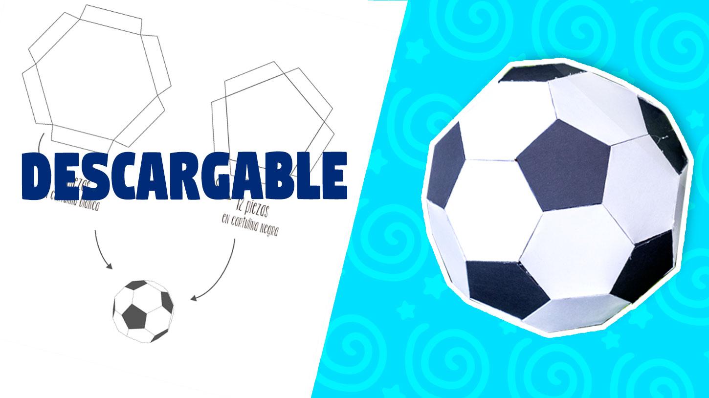 Plantilla Para Hacer Balón De Futbol De Papel Craftingeek