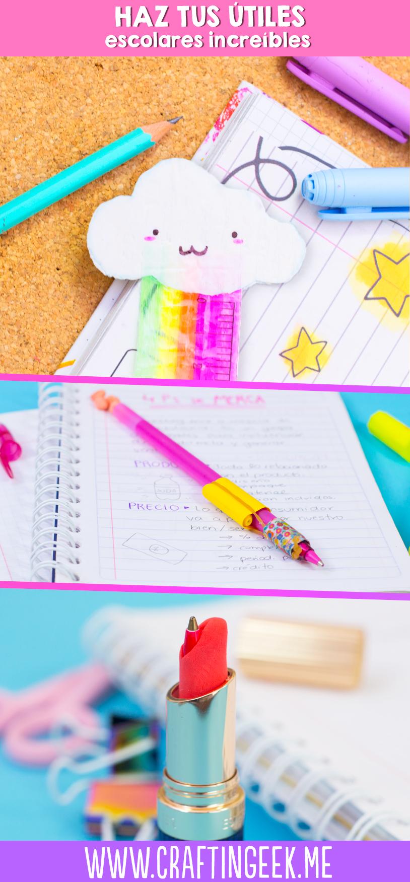 Haz tus propios útiles escolares! DIY School supplies