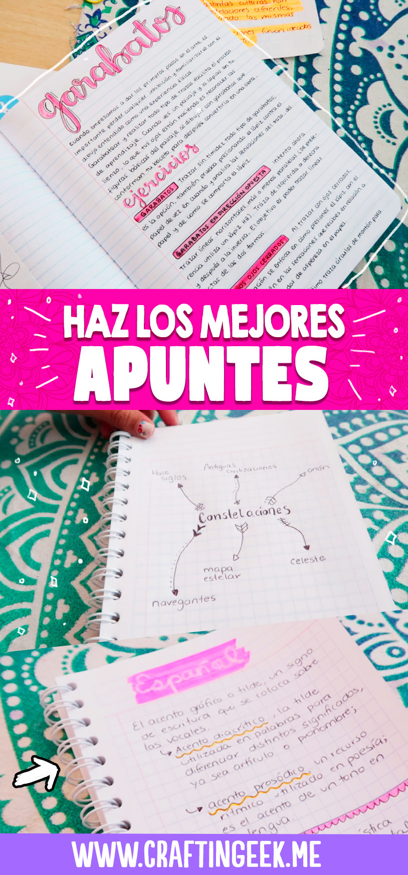 Te comparto estos Tips para hacer los mejores apuntes de tus tareas |  Make the best notes for your tasks with this tips.
