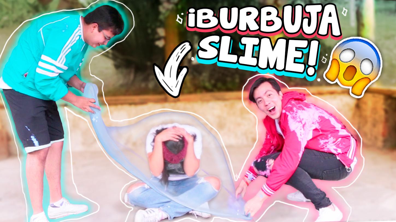 Haz una burbuja de slime gigante challenge