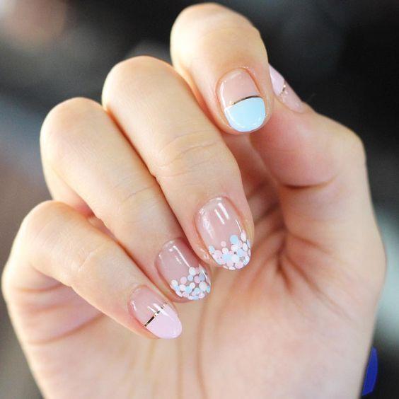 Diseños de uñas color pastel