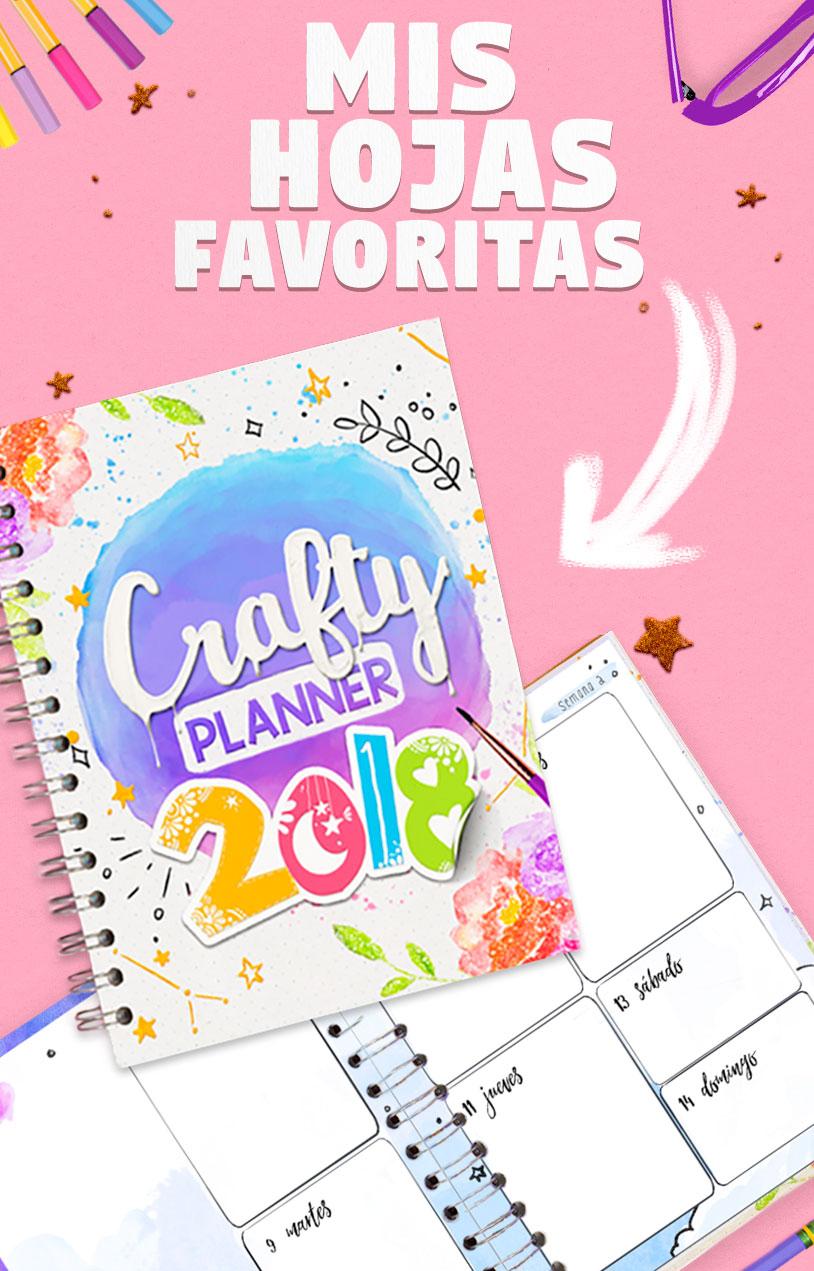 Crafty Planner 2018: mis hojas favoritas