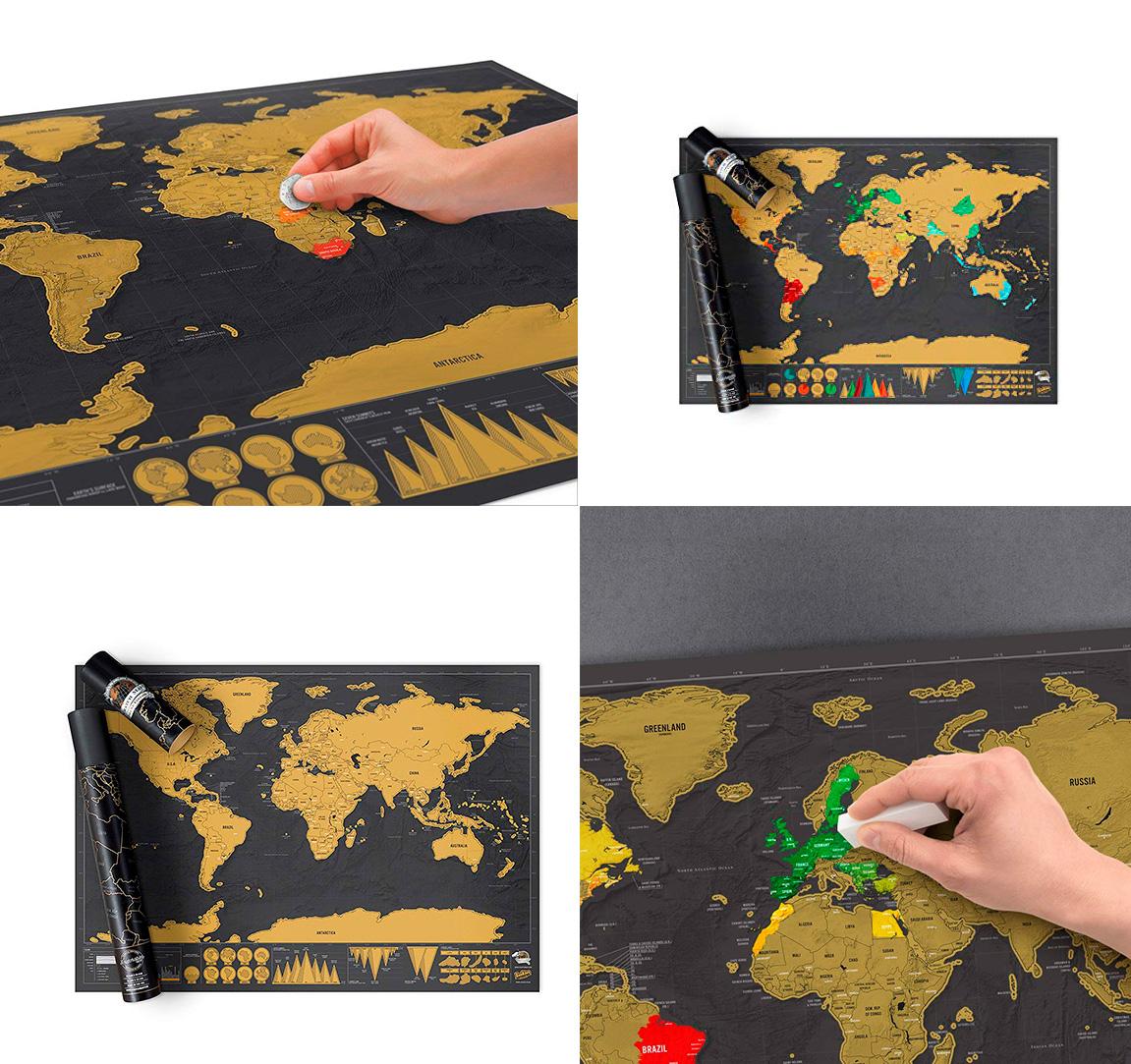 Regalos para hombre mapa para rascar