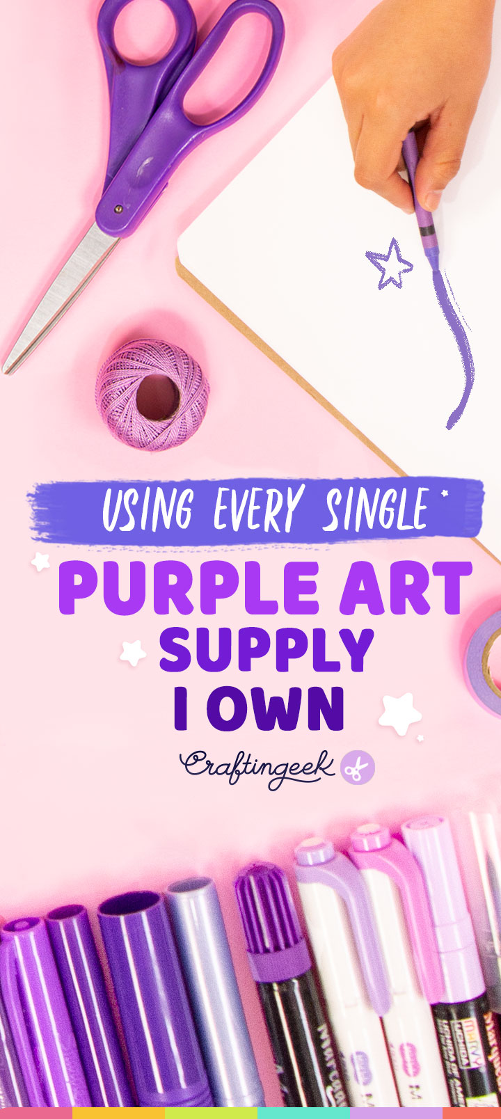 Use todos mis materiales morados y esto paso | Using every single purple art supply i own
