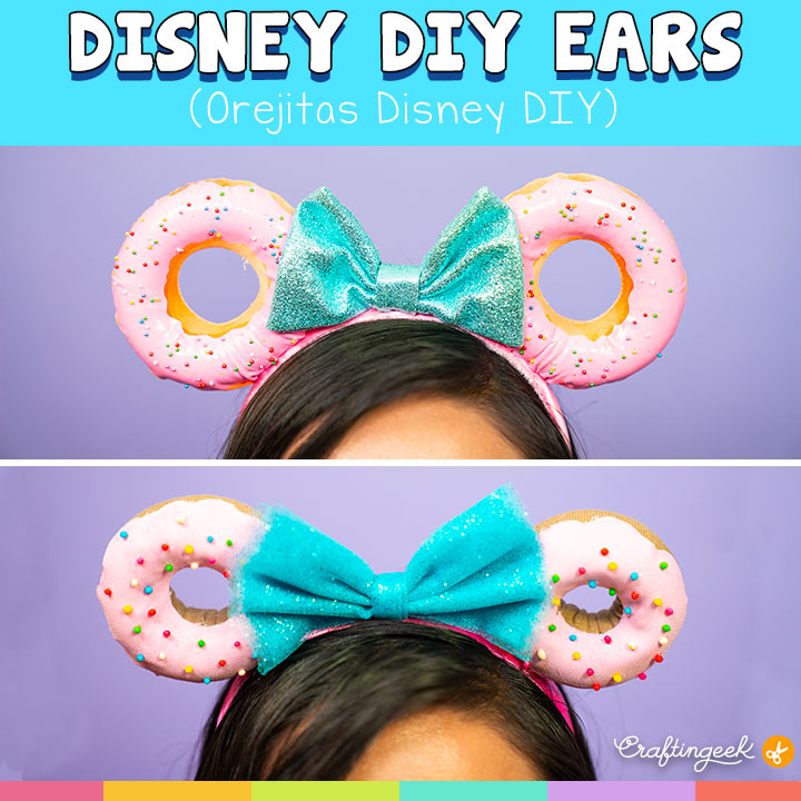 Estas orejitas Disney DIY son muy kawaii, ¿Te gustarías usarlas? Ve este tutorial y te eseño como hacerlas | These Disney DIY Ears are so kawaii, Would you like to use it? See this tutorial and I'll tell you how to do that.